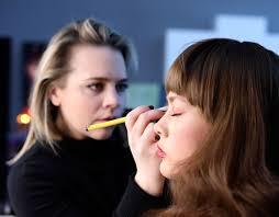 makeup artist liz wegryzn at work photo by sarah boyum