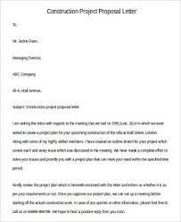 Construction Proposal Letter Sample Proposal Letters