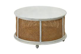 158.86 kb, 805 x 805. White Wash Round Wood Metal Coffee Table Living Spaces