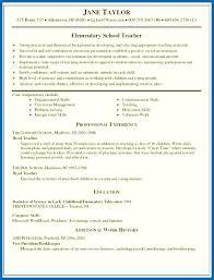 Preschool Teacher Resume Sample Teaching Skills Resume Sample Of Teaching Resume Preschool Teacher 23