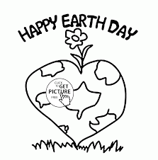 Small Picture Lovely and Healthy Planet Earth Day coloring page for kids