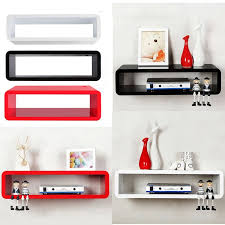 Oval Floating Shelves Best Oval Floating Shelves With Red Black White Colors Decoration