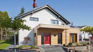 Fingerhut Einfamilienhaus Dunkles Satteldachhaus Weiß Verputzt Graue