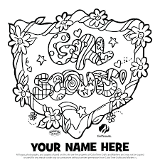 Brownie Girl Scout Coloring Pages Girl Scout Coloring Pages Daisy