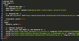 bootstrap docs starter template code