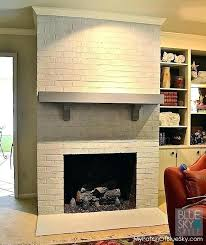 astounding painting red brick fireplace fireplace brick colors our drab fireplace gets fabulous using fusion mineral