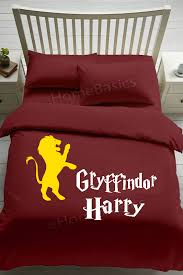 harry potter personalised gryffindor bedding hogwarts house duvet pillows 1 of 1 see more