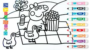 Peppa Pig Coloring Book Pages L Kids Fun Art L How To Draw Peppa Pig