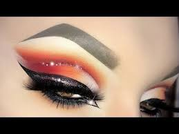 y valentine s day look arabic red glitter cut crease makeup tutorial