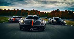 pagani huayra three cars wallpaper 4k ...