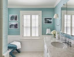 Tall Wainscoting pretty bathroom with wall pictures and blue wall color also 3012 by xevi.us