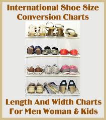 shoe size chart width international shoe size conversion length and width charts
