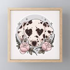 dalmatian dog Framed Mini Art Print by ...