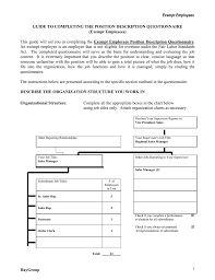 Exempt Employees Guide To Completing The Position