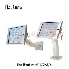 aluminum pad tablet security lock wall mount case table display kiosk brace housing stand with for ipad mini 1 2 3 4