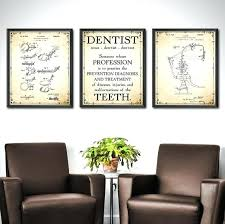 dental office decor. Dental Decor Dentist Office Set Of 3 Wall Art For Plans Decoration Ideas O