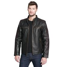 black rivet mens big tall antique leather cycle jacket