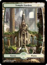 temple garden proxy mtg altered art temple gardens mtg art magic cards