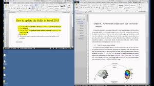 Microsoft Word Update All Fields How To Update The Fields Cross References In Word 2013 Youtube