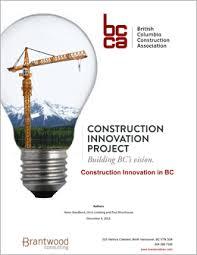 Innovation Project Bc Construction Association