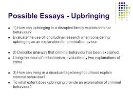 forensic psychology turning to crime revision turning to crime  possible essays upbringing 1 how can upbringing in a disrupted family explain criminal behaviour
