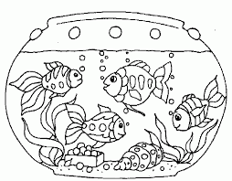 Small Picture Fish Tank Coloring Pages Coloring Home