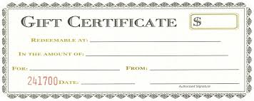 gift certificates format gift certificate template word 2007