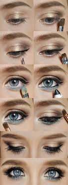 12 gorgeous blue and gold eye makeup