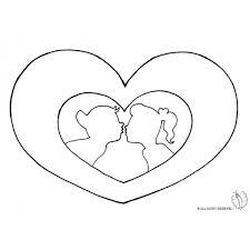 Disegno Di Cuore San Valentino Da Colorare Per Bambini