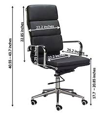 classic office chair. Classic Replica High Back Office Chair (Set Of 2) - Black Vegan Leather,  Thick High Density Foam, Stabilizing Bar Swivel \u0026 Deluxe Tilting Mechanism Classic Office Chair
