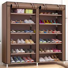 furniture shoe storage. Large Capacity Shoes Storage Cabinet Double Rows Organizer Rack Home Furniture DIY Dust-proof Shoe A
