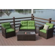 puerta 4 piece outdoor wicker patio sofa set with cushion box scheme patio furniture seat