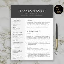 Executive Resume Template Word Modern Man Resume Template For Word Professional Man Resume 69