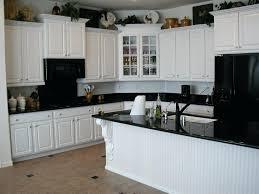 kitchen ideas white cabinets black appliances. Kitchen White Cabinets Black Appliances With Boo On The Counters Ideas