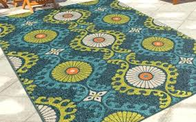outdoor rug fresh rugs indoor scroll medallion blue orian garden collection