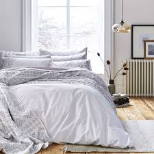 bianca embroidered 100 cotton aztec 200 tc white grey double duvet cover about this picture 1 of 5 picture 2 of 5