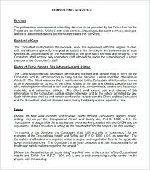 Consulting Services Agreement Template Contract Letter Of Word ...