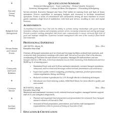 Sample Executive Chef Resume Executive Chef Resume Template Fred Resumes 21