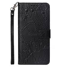 embossing fireworks elephant leather wallet case for huawei p smart 2019 black