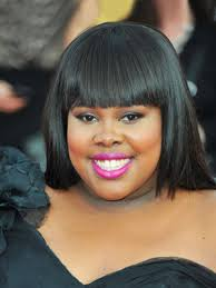 amber riley round face shape makeup