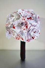 Paper Flower Bouquet Etsy Blood Spatter Paper Flower Bouquet