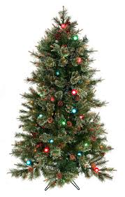Artificial Christmas Tree With C9 Lights Sale Cottonwood Twinkle And G40 Pre Lit Artificial Christmas Tree