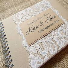 best 25 personalised wedding guest book ideas on pinterest Wedding Book Ideas Pinterest rustic kraft personalised wedding guest book with lace handmade to order wedding guest book ideas pinterest