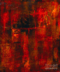 abstract painting painting red odyssey by pat saunders white