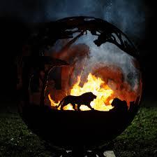 ball fire pit. africa themed sculptural firepit ball fire pit t