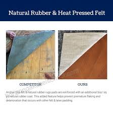 2 x 3 thick felt and rubber rug pad non slip rug pad 3 8