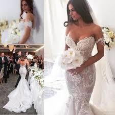 gorgeous arabic lace mermaid wedding dresses 2017 off shoulder