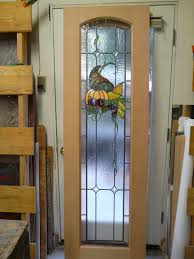 pantry door and glass with a cornucopia design