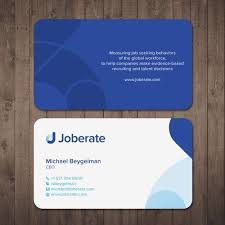 Joberate Business Cards Make Evidence Based Recruiting And Talent
