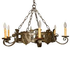 french iron chandelier antique